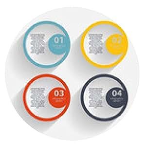 alfombrilla de ratón Plantilla de negocio de infografía ilustración vectorial - ronda - 20cm