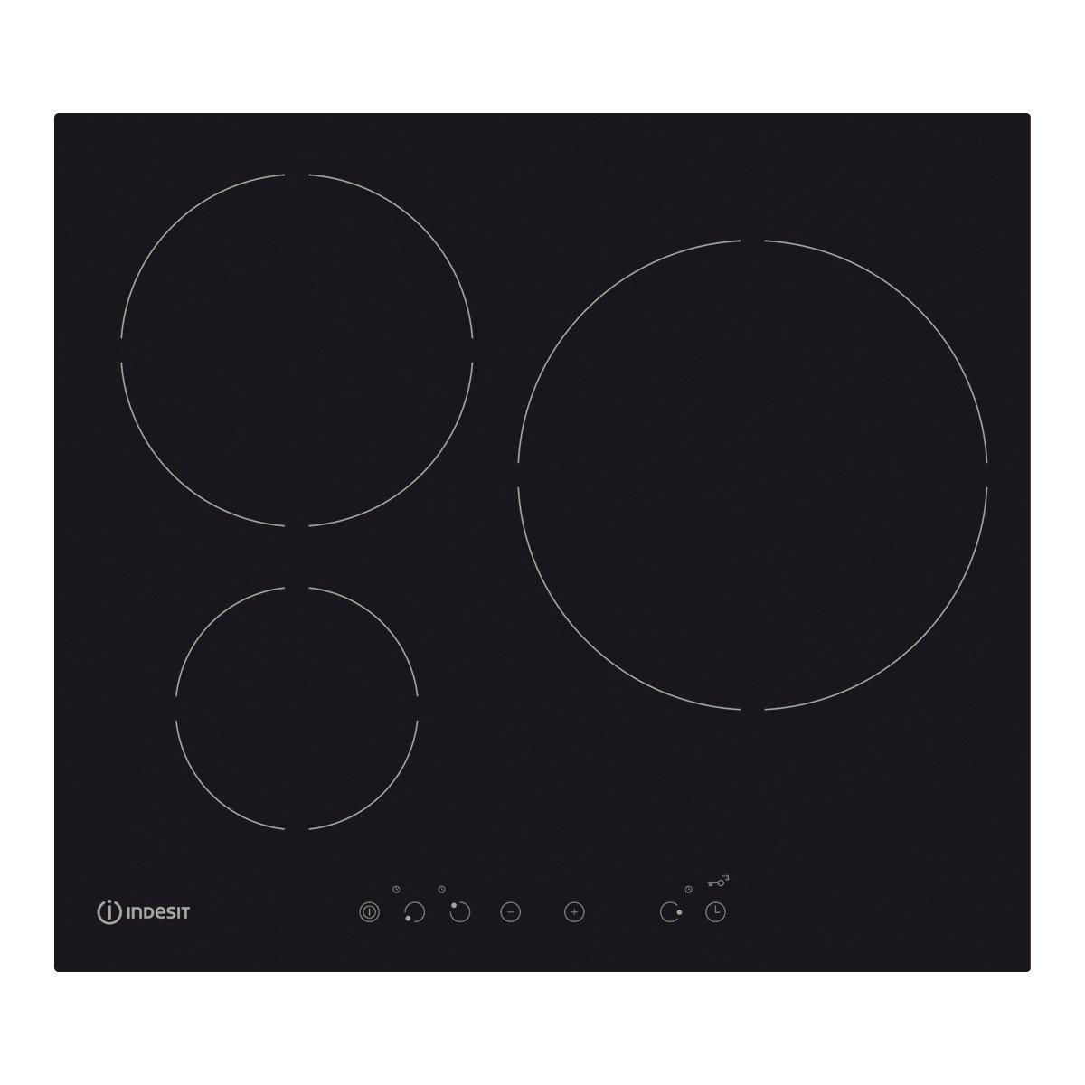 Indesit - Placa de inducción ivia 630 lc con 3 zonas de ...