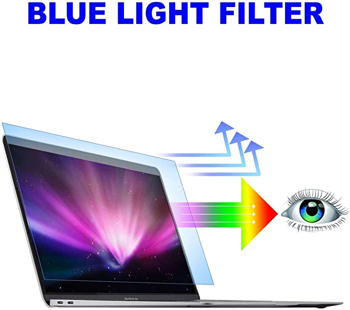 2PC Pack Blue Light Blocking Screen Protector, Anti Blue Light Filter for 2018-2020 MacBook Air 13-inch with Touch ID Model A1932 A2179