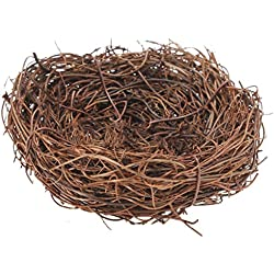 Handmade Bird Nest House Craft Decoration - Vine Twig for Wedding Party Decor (8cm)