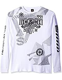 Southpole Men's Big and Tall Long Sleeve Hd, Screen Print Graphic Tee with Logo