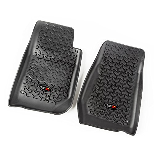 Rugged Ridge All-Terrain 12920.03 Black Front Row Floor Liner For Select Jeep Wrangler Models