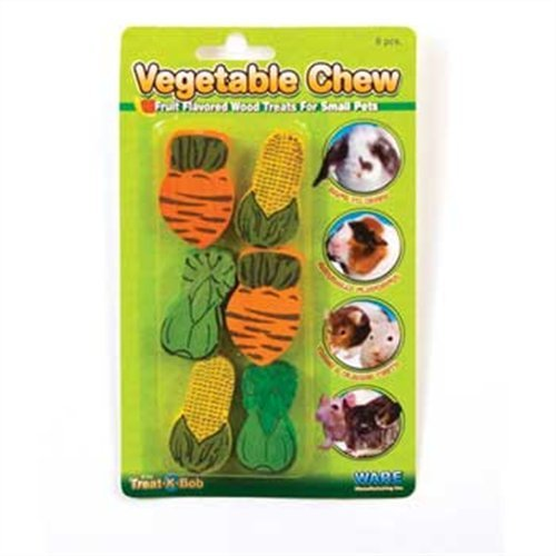 (4 Pack) - Ware Manufacturing Wood Vegetable Small Pet Chews - 6 Chews per Package