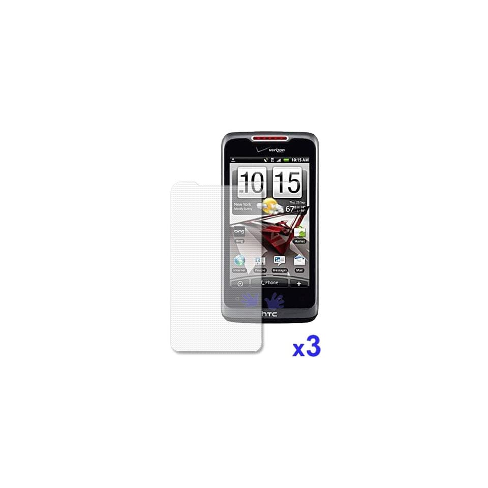 HTC Merge Anti Fingerprint, Anti Glare   Matte Finishing Screen Protector ( 3 Pack )
