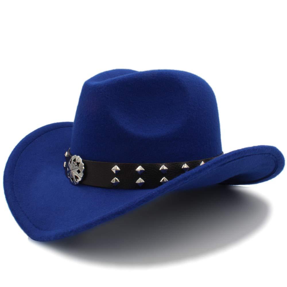 Material de Lana de imitaci/ón Vintage Hombres Mujeres Visera Sombrero Rendimiento de Viaje Punk Cowgirl Cap de Vaquero Occidental YAJIE-Sombrero,,