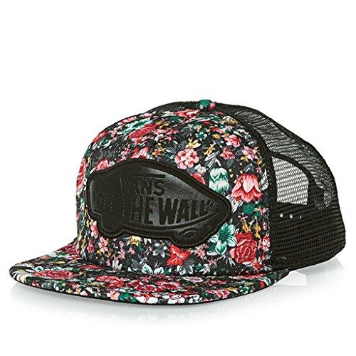 (Vans Off The Wall Women's Beach Girl Trucker Hat Cap - Multi Floral)