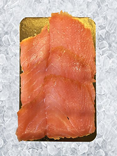 Sliced Norwegian Style Smoked Salmon, 12 Oz. PKG, 12 PCS by Banner Smoked Fish