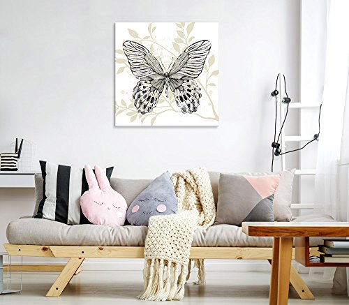 Square Butterfly Leaf Pattern