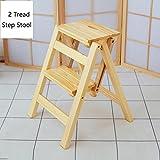 YD-Step stool 2 Step Stool Ladder Adults & Kids Wood...