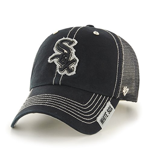 MLB Chicago White Sox Turner Clean Up Adjustable Hat, One Size, Black