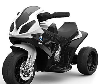 RIRICAR BMW S 1000 RR Triciclo eléctrico, Motocicleta con batería, 3 Ruedas, con Licencia, 1x Motor, batería de 6V, Negro: Amazon.es: Juguetes y juegos
