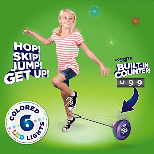 Geospace Sparkler LED Whip 'N Skip Ankle Skip Rope with Motion-Activated Lights & Built-in Counter