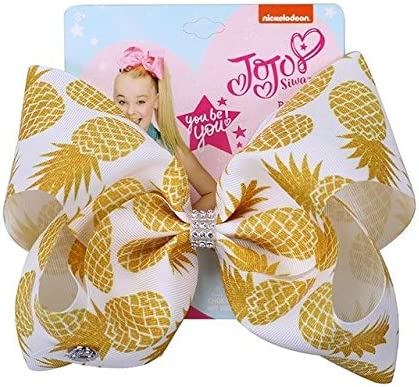 8/'/' JoJo Hair Bow Clip Kids/' Green Yellow Pineapple Fruits Girl Accessories