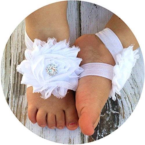 Miugle Shabby Flower Barefoot Sandals