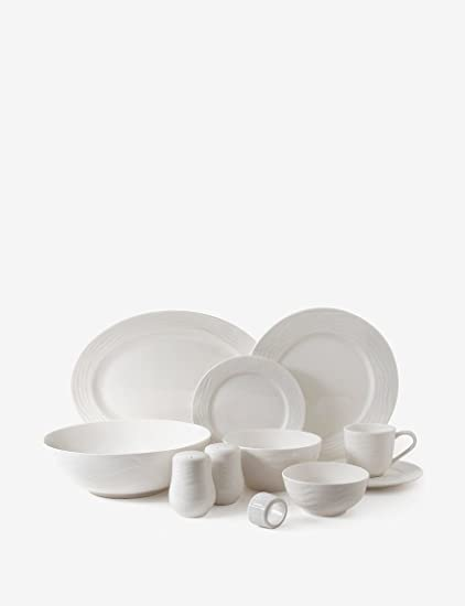 Gibson Home Eventide 46Pc Dinnerware White & Amazon.com | Gibson Home Eventide 46Pc Dinnerware White: Sports Fan ...