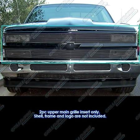 APS Compatible with 1988-1993 Chevy CK Pickup 92-1993 Blazer Suburban Black  Phantom Billet Grille Grill C85245H