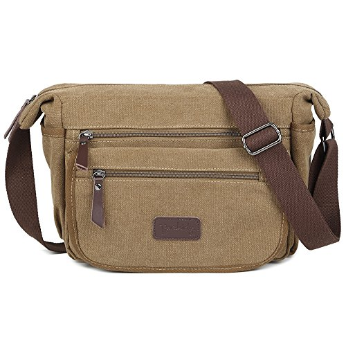 Berchirly Vintage Retro Canvas Messenger Bag Crossbody Shoulder Bag