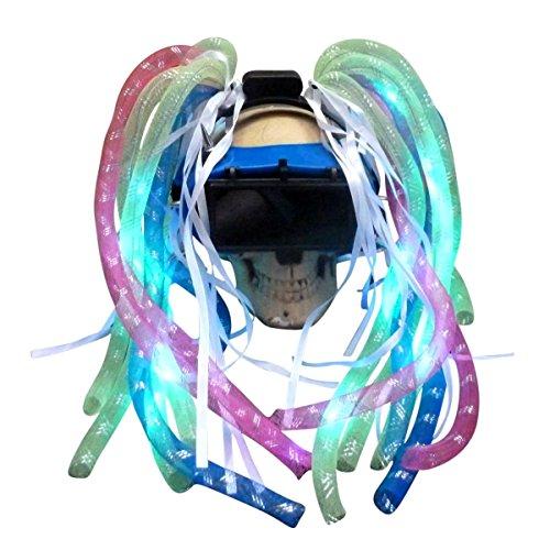 (Steampunk Goggles LED Light Dread cyberlock Goth Rave Club M4 (DJ)