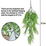 Outgeek Artificial Hanging Plants, 2PCS