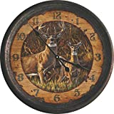 Cheap River's Edge Products Distressed Vintage Tin Wall Clock, 15-Inch