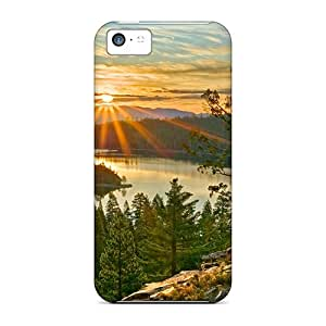 Premium Iphone 5c Cases - Protective Skin - High Quality For Sunrise Over Crater Lake