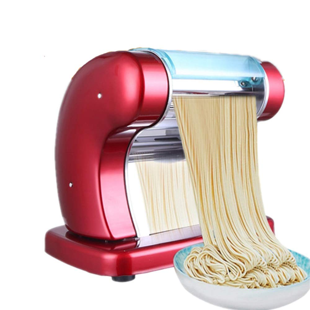 ANGELA Commercial Electric Pasta Maker, Automatic Machine Multi-Functional Noodle Machine, 6 Thickness Settings Adjustment, for Cookies Tagliatelle by ANGELA