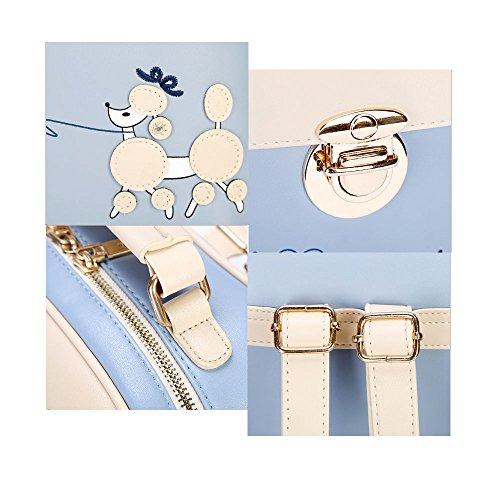 Lindo perro Mochila mujeres de cuero Pu Mochila Niñas School Bag Daypack Teens Mochila shopper Lavanda Bolsos Mochila Lavanda Bolsos Mochila