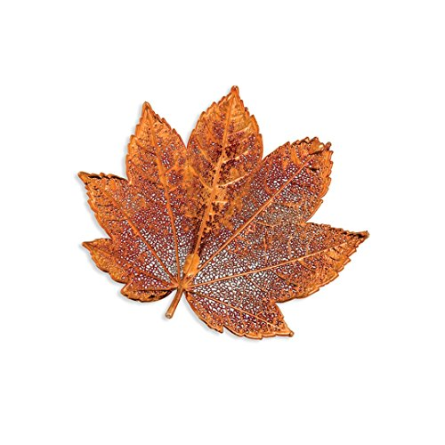 ICE CARATS Iridescent Copper Dipped Full Moon Maple Leaf Pin Woman Fashion Jewelry Gifts for Women for ()
