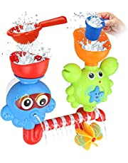 GOODLOGO Bath Toys Bathtub Toys for 1 2 3 4 Year Old Kids Toddlers Bath Wall Toy Waterfall Fill Spin and Flow Non Toxic Birthday Gift Ideas Color Box (Multicolor)