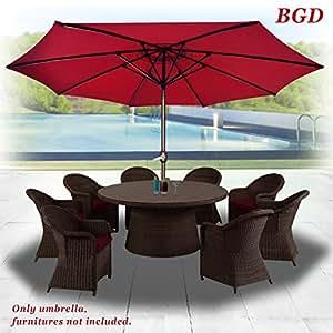 BenefitUSA Patio paraguas 13de mercado sombrilla jardín paraguas al aire libre mercado con 8costillas y manivela