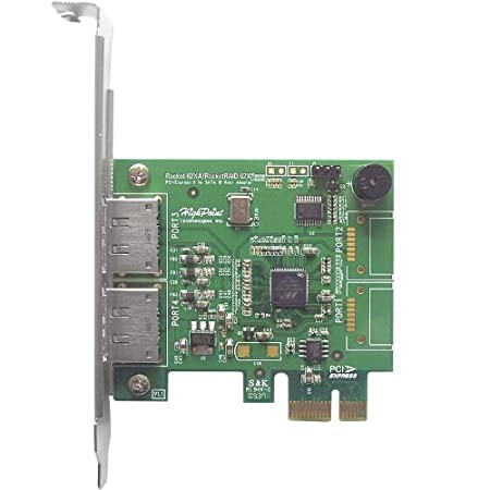 HighPoint RocketRAID 642L 2 SATA 6Gb//s and 2 eSATA 6Gb//s Ports PCI-Express 2.0 x4 SATA III Controller Card
