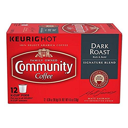 Community Coffee Single-Serve Cups, Dark Roast, 72-Count