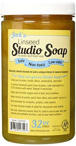 Jack Richeson 120755 1000 ml Linseed Studio Soap (Soap Jacks Linseed Studio)