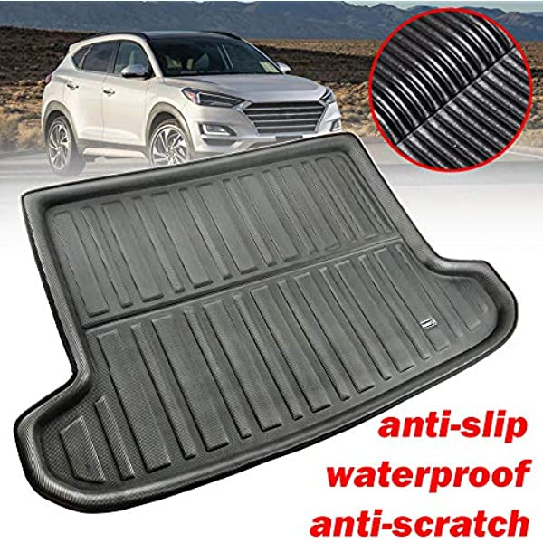 ZYHW Automotive Cargo Liners Black Rear Trunk Boot Liner Cargo Mat Floor Tray for 2016-2018 Hyundai Tucson