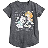 Jumping Beans Toddler Girls 2T-5T Paw Patrol Skye & Everest We Can Do Anything Glittery Graphic Tee 5T Charcoal Heather