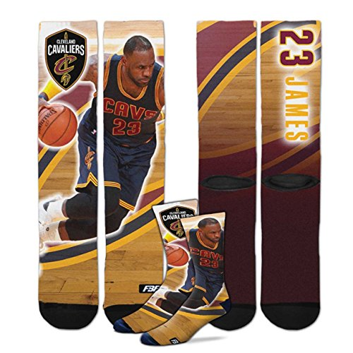 Cleveland Cavaliers Youth Size Center Court NBA Crew Kids Socks (4-8 YRS) 1 Pair - Lebron James