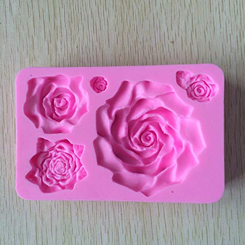 Silicone Mold For Soap Couvercles Silicone 3D Big Rose Flower Cake Mold Silicone Molds for Cakes 3D Soap Molds Sugarcraft Tools Cake Decorating E295