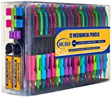 June Gold 72 Mechanical Pencils, 0.7 mm HB #2 Lead, 2 Lead Dispensers/w 220 Refills & 16 Refill Erasers, Break Resistant Lead, Convenient Side Click & Soft Non-Slip Grip