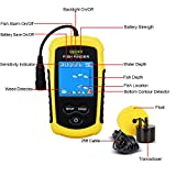 LUCKY Handheld Portable Fish Finders for Boats Fishing Kayak Fishfinder Depth Finder Ice Fishing Gear with Sonar Transducer and LCD Display