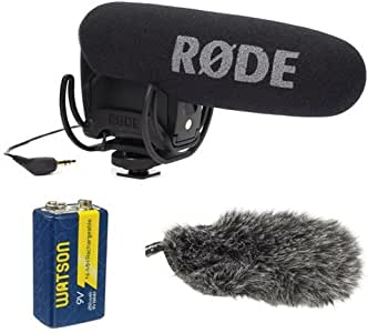 Rode VMPR VideoMic Pro R with Rycote Lyre Shockmount With Rode DeadCat VMPR and 9V Rechargeable NiMH Battery
