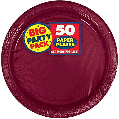 Big Party Pack Berry Red Paper Plates | 7