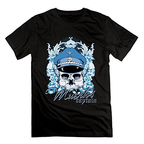 Men's Captain And Skulls Short-Sleeve T-shirt Black