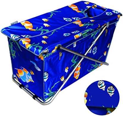 折りたたみ式バスタブ大人用バスバレルインフレータブルバスタブ取り外し可能で便利なバスタブ厚くて大きな折りたたみ式バスタブ収納が簡単 浴室用設備 (Color : Blue, Size : 108*55*52cm)