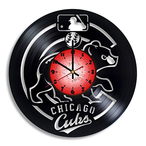 Chicago Cubs vinyl record wall clock, unique gift for any occasion