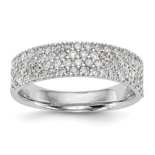 - ICE CARATS 14kt White Gold Micro Pave Diamond Wedding Ring Band Size 7.00 Engagement Bridal Fine Jewelry Ideal Gifts For Women Gift Set From Heart