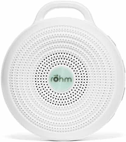 Marpac Rohm Portable White Noise Sound Machine, Electronic, White, 3.7 Ounce