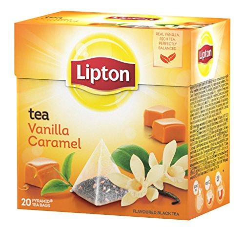 Lipton - Te con aroma de vanilla y caramelo, 20 x 1 7 gr
