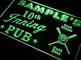 ADVPRO Name Personalized Custom Baseball Inning Bar Beer Neon Sign Green 12'' x 8.5'' st4s32-po-tm-g