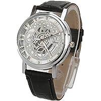 Han Shi Luxury Watch, Men Fashion Quartz Wristwatch Military Sport Leather Band Dial Clock