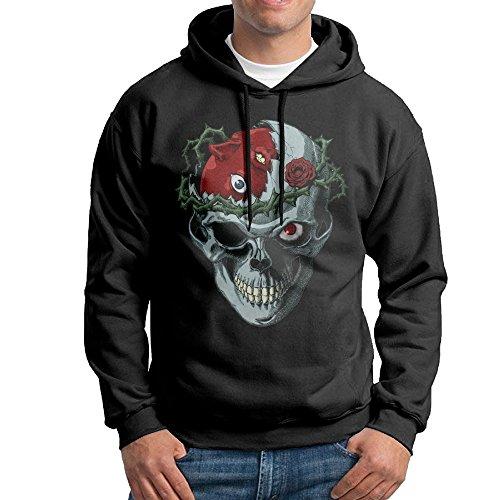 LOYRA Men's Berserk Skull Hooded Sweatshirt Size M Black